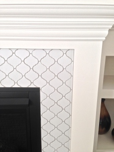 Lantern tile and custom mantel